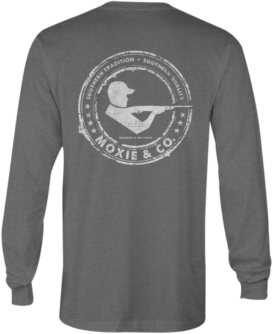 Moxie & Co. Signature Logo Tee - Dark Heather Grey