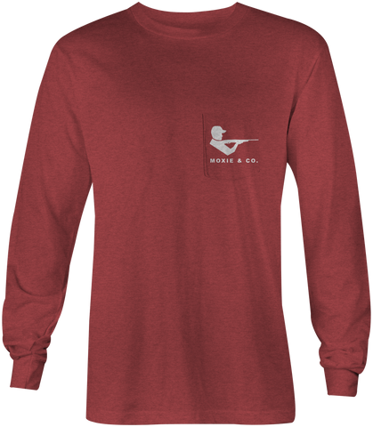 Moxie & Co. Signature Tee - Rustic Heather Red