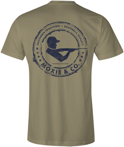 Moxie & Co. Signature Logo Tee - Tan