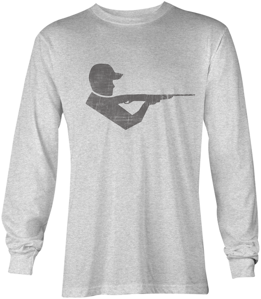 Moxie & Co. Shooter Tee - Long Sleeve ( Heather White)
