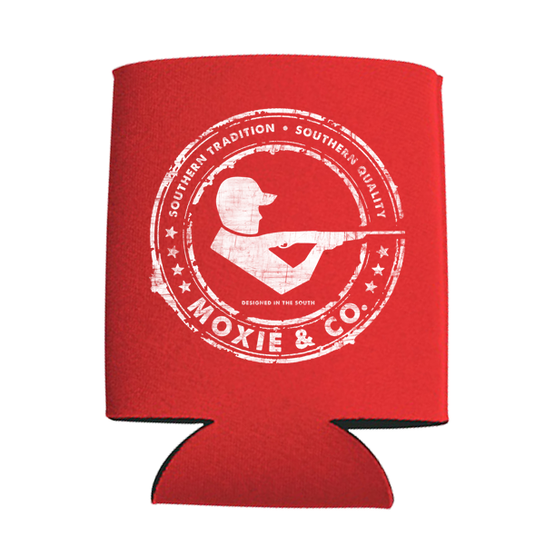 Moxie & Co. Signature Logo Koozie - Red