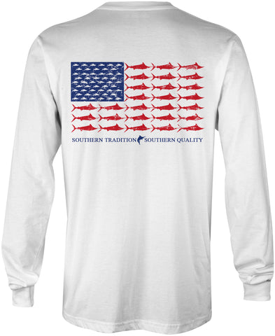 Marlin Flag Performance Tee Shirt