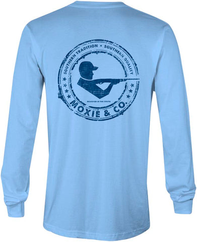 Moxie & Co. Signature Logo Tee -Sky Blue