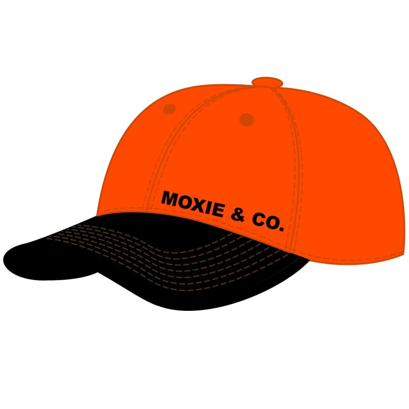 The Moxie Field Hat (Waxed Visor) - Blaze Orange/Brown