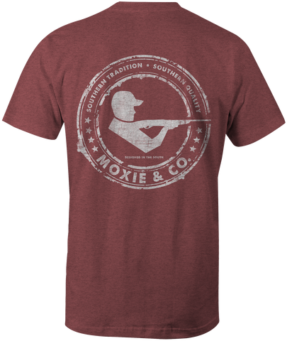 Signature Logo Tee Short Sleeve - Heather Red