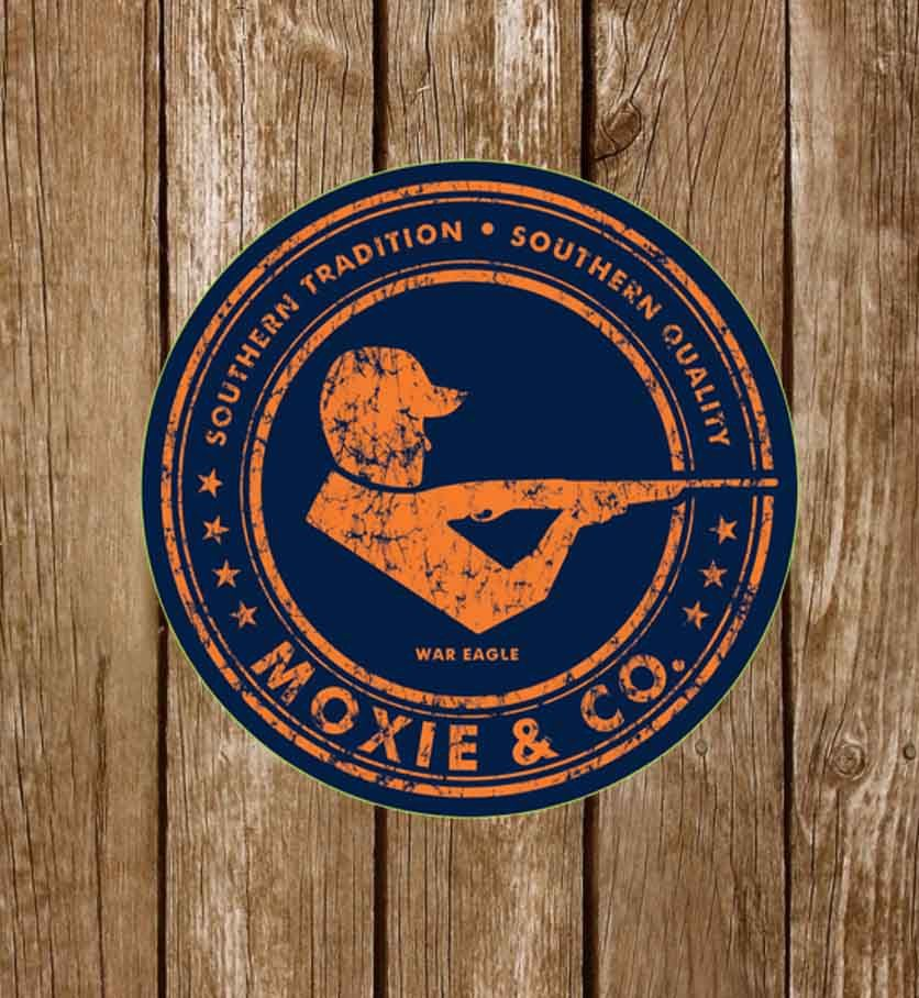 Moxie & Co. Collegiate Sticker - War Eagle - Moxie & Co.