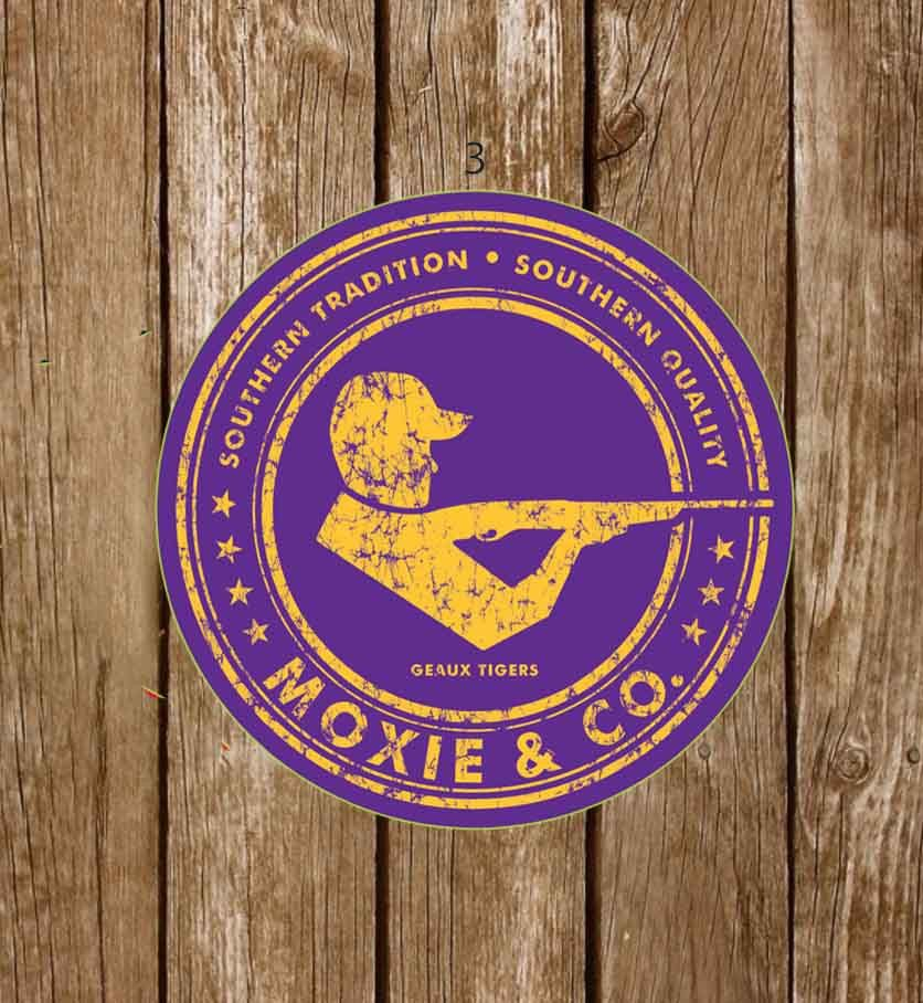 Moxie & Co. Collegiate Stickers - Geaux Tigers - Moxie & Co.