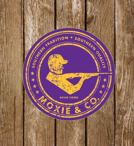Moxie & Co. Collegiate Stickers - Geaux Tigers