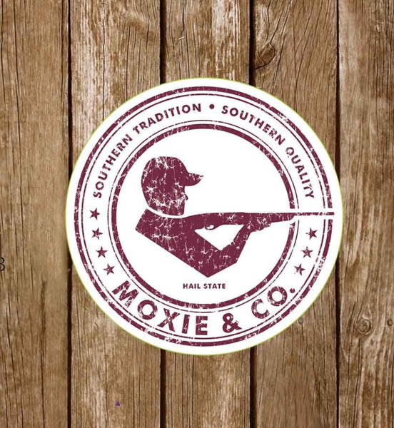 Moxie & Co. Collegiate Stickers - Hail State - Moxie & Co.