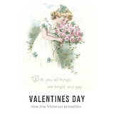 Be My Valentine! Nine Free Victorian Printables