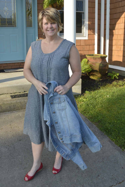 Linen Tank Dress by Tracy's Sewing Studio