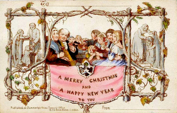First Christmas Card (via Wikimedia Commons)