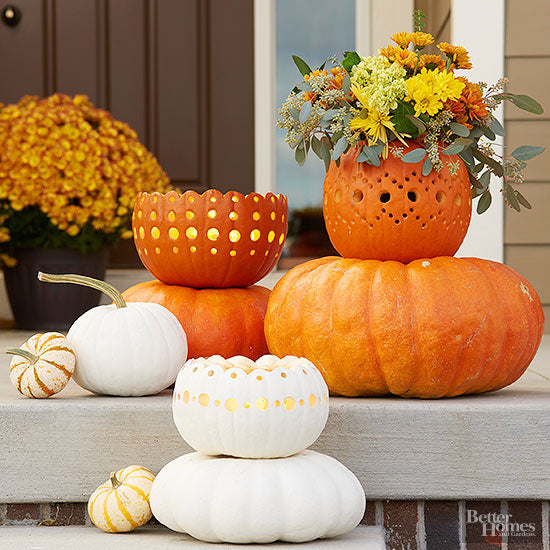 Lacy Pumpkins for Fall Home Decor