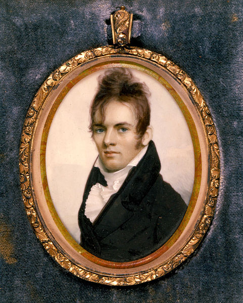 Miniature Painted Enamel Portrait of Royal Ralph Hinman by Anson Dickinson