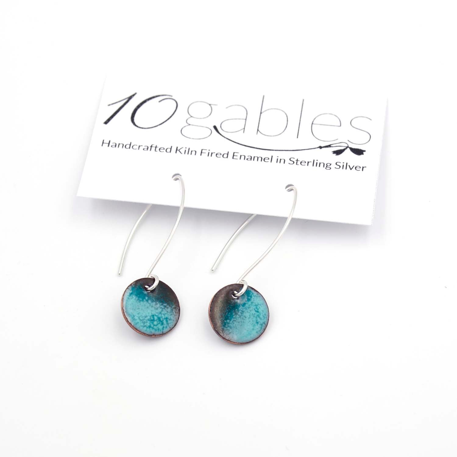 Sterling Silver Modern Enamel Earrings