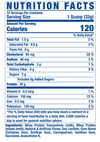 King Whey premium whey protein vanilla frosting supplement facts