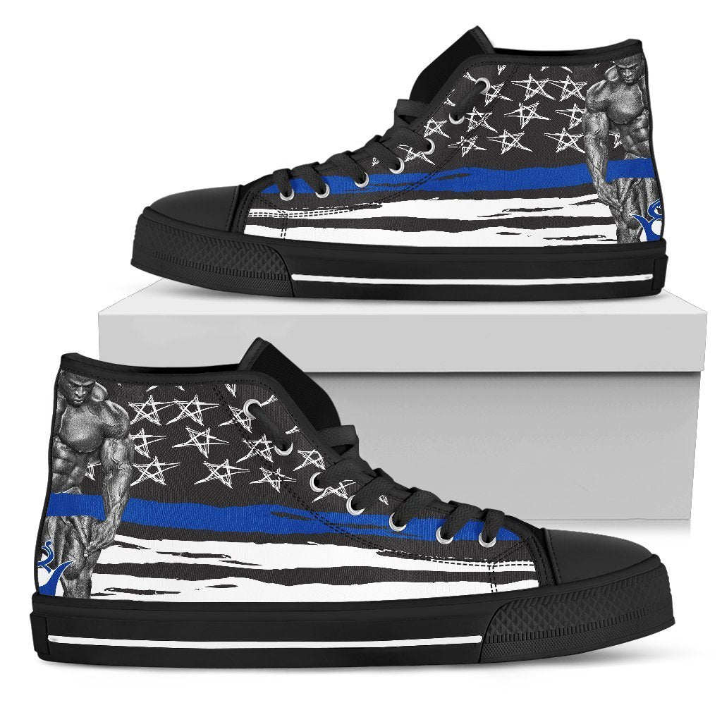 Pillow Profits Apparel & Accessories Shoes Mens High Top - Black - Thin Blue Line Training Shoe / US5 (EU38) Thin Blue Line Training Shoe