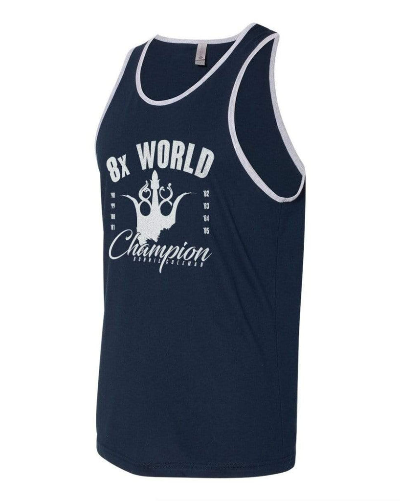 Ronnie Coleman Signature Series Apparel & Accessories Tank 8x World Champion Tank - Coleman Athletics Ronnie Coleman Signature Series Bodybuilding Supplements