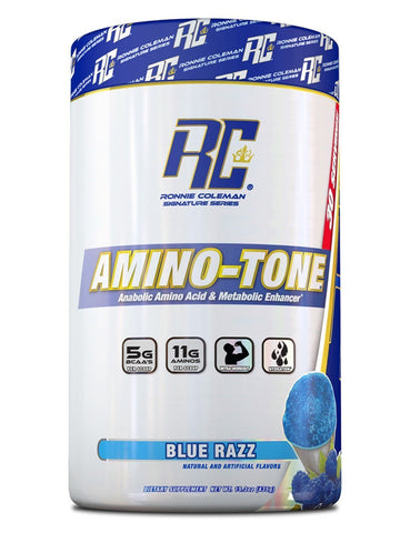 Image of Ronnie Coleman Signature Series Aminos Blue Razz AMINO-TONE 30 Scoops