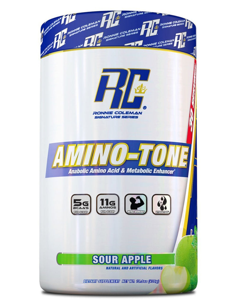Ronnie Coleman Signature Series Aminos Sour Apple AMINO-TONE 30 Scoops