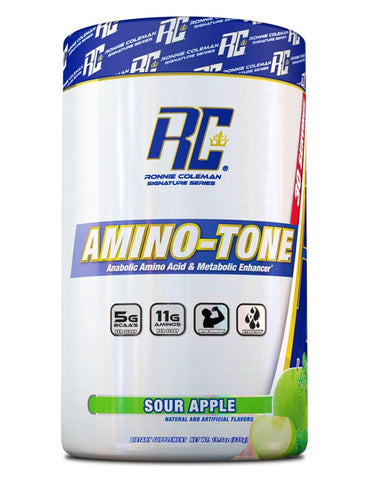 Image of Ronnie Coleman Signature Series Aminos Sour Apple AMINO-TONE 30 Scoops