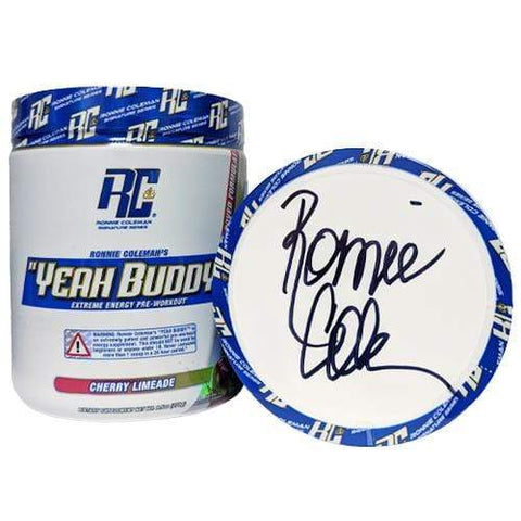 Ronnie Coleman Signature Series Pre Workout SIGNED - Cherry Limeade Autographed - Yeah Buddy New Formula Ronnie Coleman Signature Series Bodybuilding Supplements