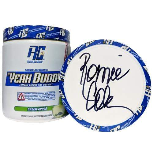 Ronnie Coleman Signature Series Pre Workout SIGNED - Green Apple Autographed - Yeah Buddy New Formula Ronnie Coleman Signature Series Bodybuilding Supplements