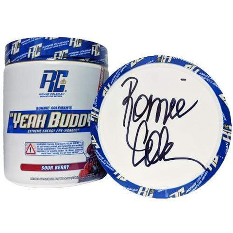 Image of Ronnie Coleman Signature Series Pre Workout SIGNED- SourBerry Autographed - Yeah Buddy New Formula Ronnie Coleman Signature Series Bodybuilding Supplements