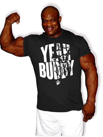 Image of Ronnie Coleman Signature Series Apparel & Accessories Shirt CA - Yeah Buddy T-Shirt Ronnie Coleman Signature Series Bodybuilding Supplements