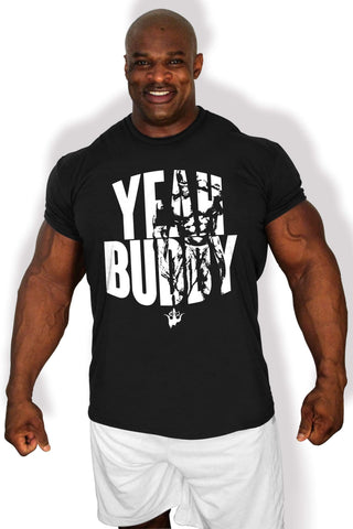Image of Ronnie Coleman Signature Series Apparel & Accessories Shirt BLACK- MEDIUM CA - Yeah Buddy T-Shirt Ronnie Coleman Signature Series Bodybuilding Supplements