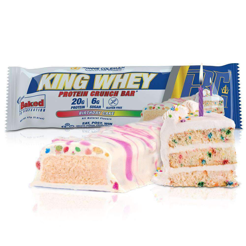 Ronnie Coleman Signature Series Protein Birthday Cake / 1 Bar King Whey Protein Crunch Bar Ronnie Coleman Signature Series Bodybuilding Supplements
