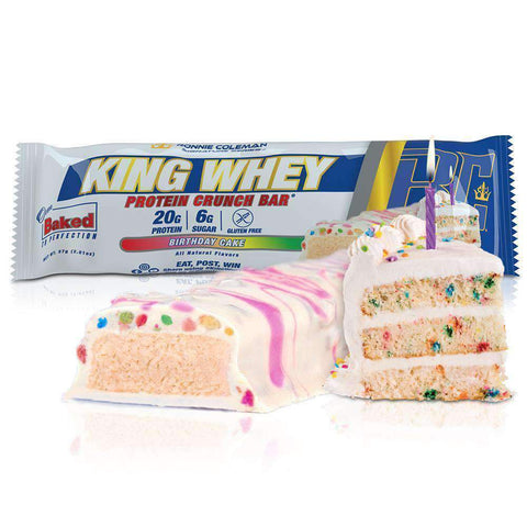 Image of Ronnie Coleman Signature Series Protein Birthday Cake / 1 Bar King Whey Protein Crunch Bar Ronnie Coleman Signature Series Bodybuilding Supplements