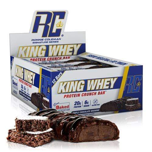 Ronnie Coleman Signature Series Protein Triple Chocolate Brownie King Whey Protein Crunch Bar Box Ronnie Coleman Signature Series Bodybuilding Supplements