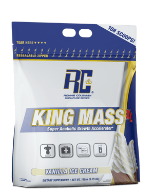 Ronnie Coleman Signature Series Mass Gainer Vanilla Ice Cream KING MASS XL™ 108 scoops
