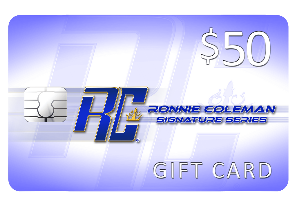 Giftwizard $50 Ronnie Coleman Gift card Ronnie Coleman Signature Series Bodybuilding Supplements