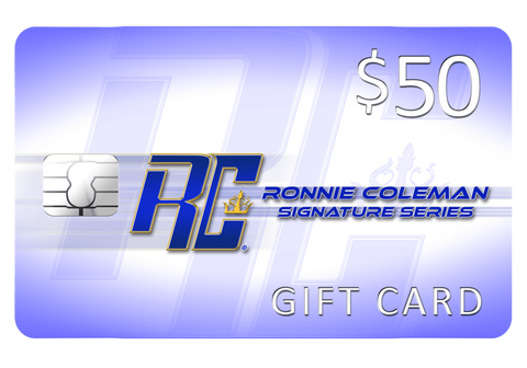 Image of Giftwizard $50 Ronnie Coleman Gift card Ronnie Coleman Signature Series Bodybuilding Supplements