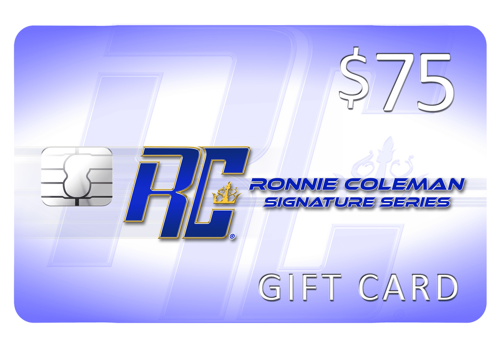 Giftwizard $75 Ronnie Coleman Gift card Ronnie Coleman Signature Series Bodybuilding Supplements