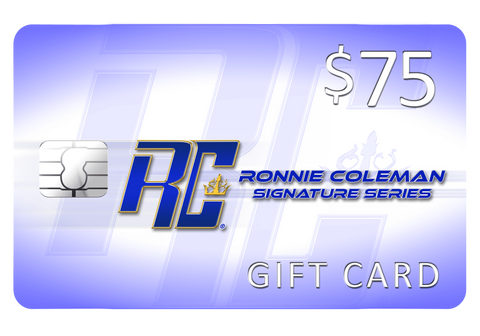 Image of Giftwizard $75 Ronnie Coleman Gift card Ronnie Coleman Signature Series Bodybuilding Supplements