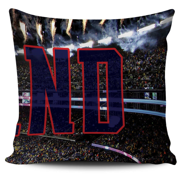 New England Football Stadium Panoramic Pillow Cover Set - societyofprints - Society of Prints - Throw Pillow
