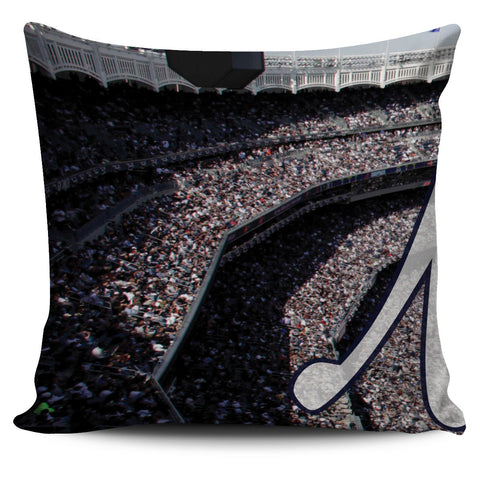 New York Color Panoramic Stadium Pillow Cover Set - societyofprints - Society of Prints - Throw Pillow