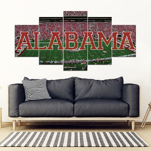Alabama 5 Panel FULL Canvas Artwork - societyofprints - Society of Prints - Canvas Wrap