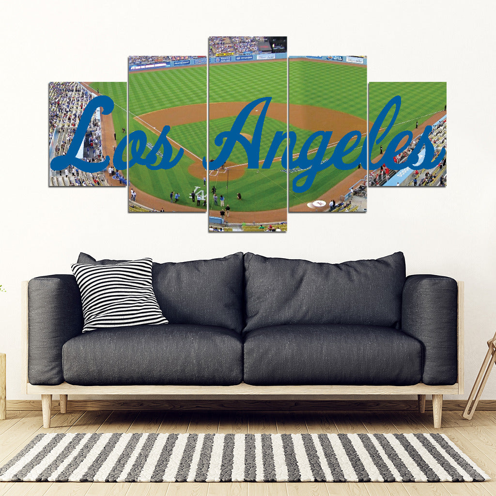Los Angeles Dodgers 5 Panel FULL Canvas Artwork - societyofprints - Society of Prints - Canvas