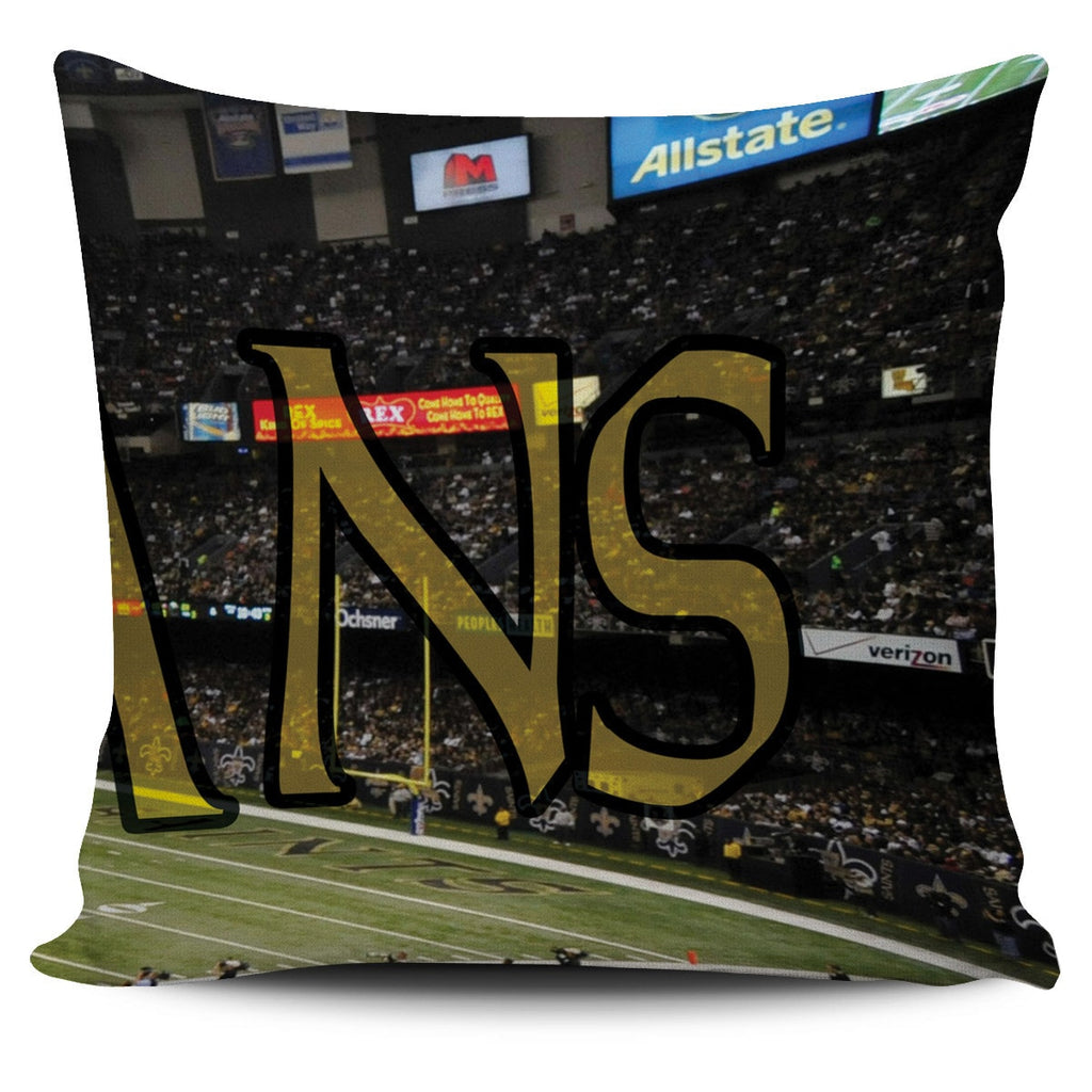 New Orleans Panoramic Stadium Pillow Cover Set - societyofprints - Society of Prints -