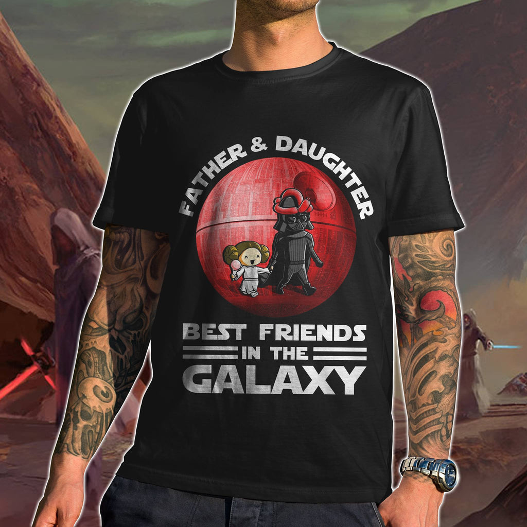 Best Friends In The Galaxy T-shirt - Father & Daughter - societyofprints - Society of Prints -