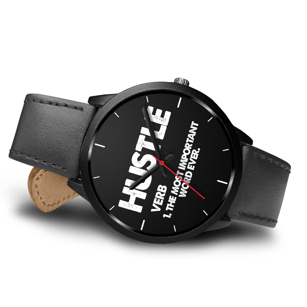 Hustle - The Most Important Word! - societyofprints - Society of Prints - Black Watch