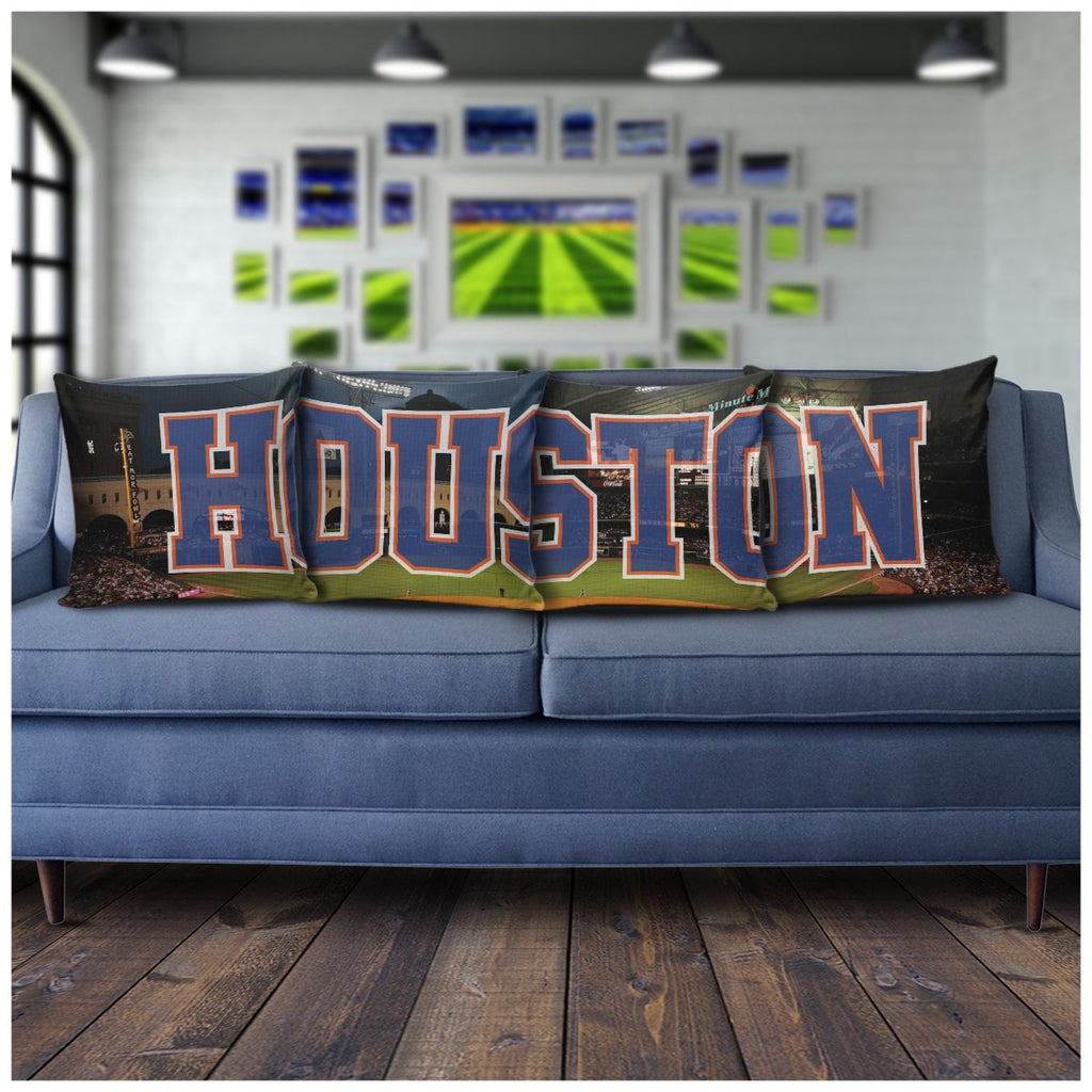 Houston Panoramic Throw Pillows - societyofprints - Society of Prints - Pillows