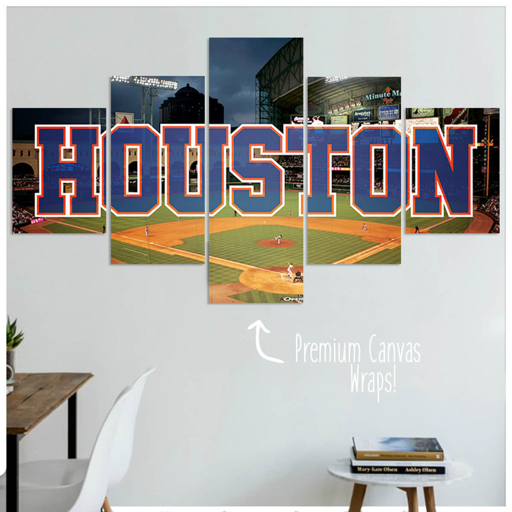 Houston  - 5 Panel Premium Canvas Wraps - societyofprints - Society of Prints - Canvas