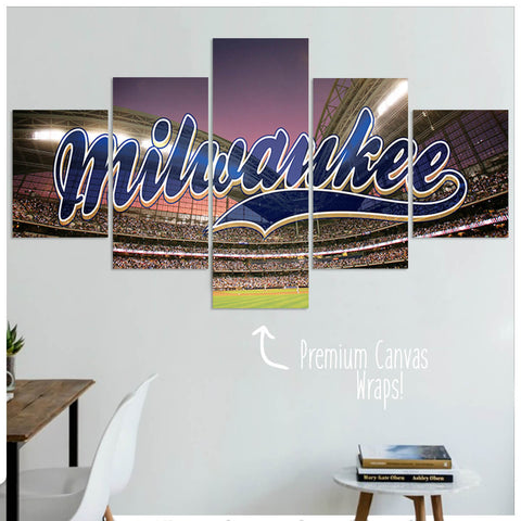 Milwaukee  - 5 Panel Premium Canvas Wraps