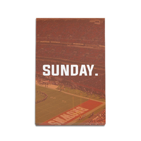 Cleveland Sunday Football Premium Canvas Wraps - societyofprints - Society of Prints - Canvas Wrap