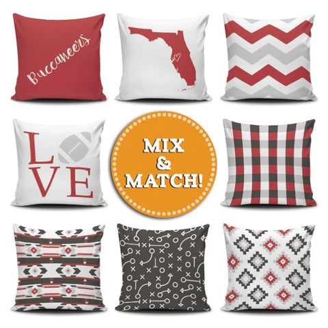 Tampa Bay Mix & Match Pillow Covers - societyofprints - Society of Prints - Pillows